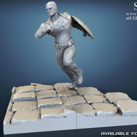 Small Avengers scene - Captain America 3D Printable Model  3D Printing 139343