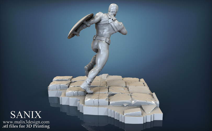 Avengers scene - Captain America 3D Printable Model  3D Print 139344