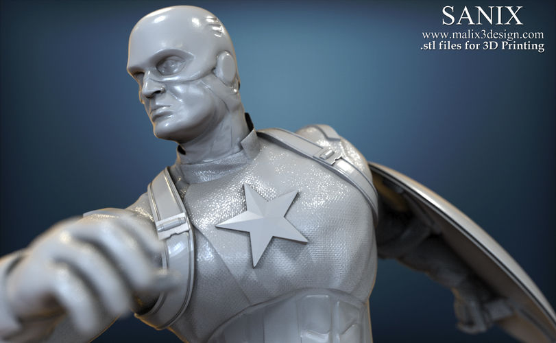Avengers scene - Captain America 3D Printable Model  3D Print 139347