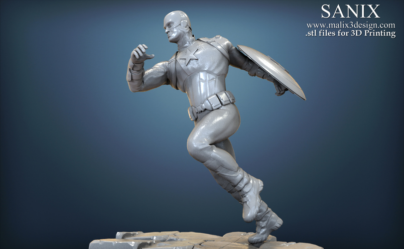 Avengers scene - Captain America 3D Printable Model  3D Print 139348