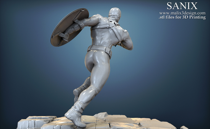 Avengers scene - Captain America 3D Printable Model  3D Print 139349
