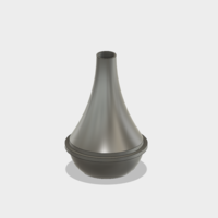 Small trumpet cup mute 3D Printing 139365
