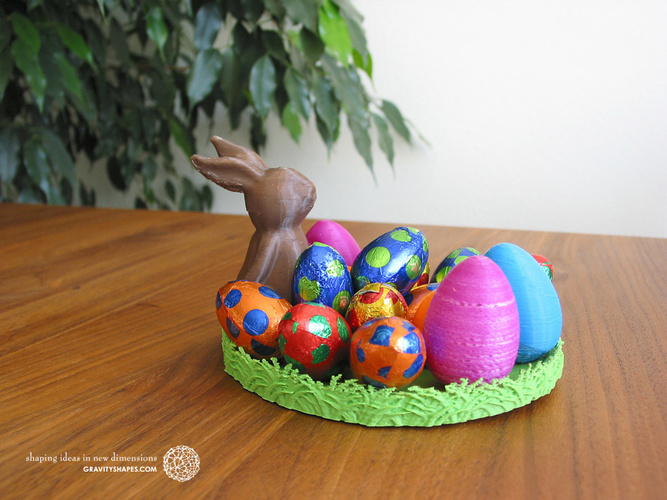 Easternest with Easter Bunny and Eggs 3D Print 139374