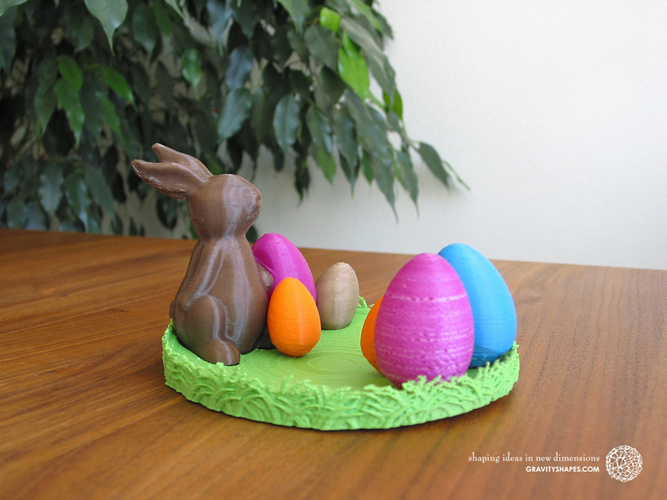 Easternest with Easter Bunny and Eggs 3D Print 139375