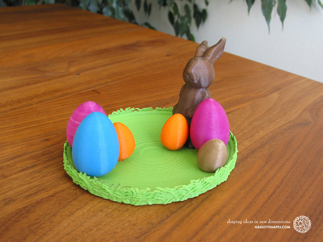 Easternest with Easter Bunny and Eggs 3D Print 139376