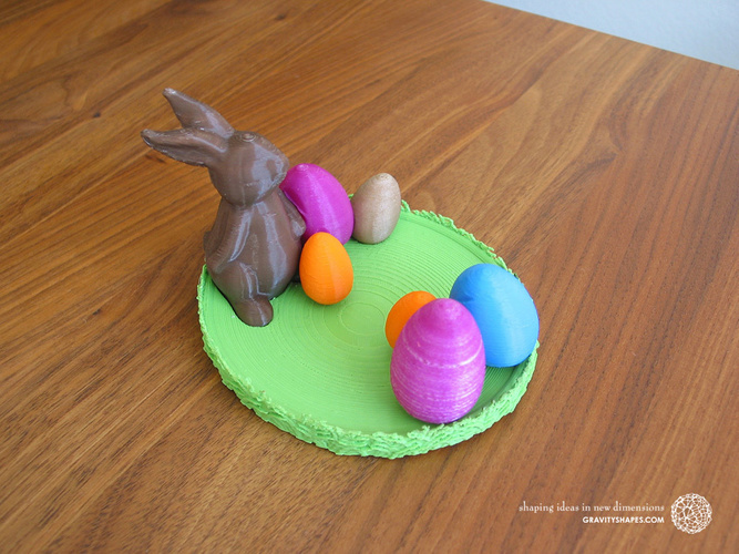 Easternest with Easter Bunny and Eggs 3D Print 139378