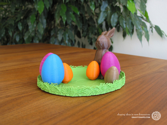Easternest with Easter Bunny and Eggs 3D Print 139379