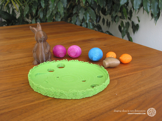 Easternest with Easter Bunny and Eggs 3D Print 139380