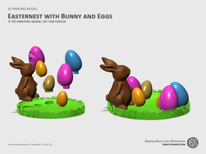 Easternest with Easter Bunny and Eggs 3D Print 139381