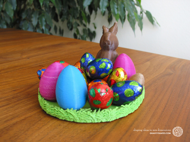 Easternest with Easter Bunny and Eggs 3D Print 139383