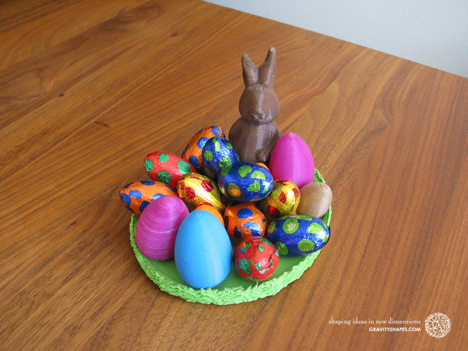 Easternest with Easter Bunny and Eggs 3D Print 139384
