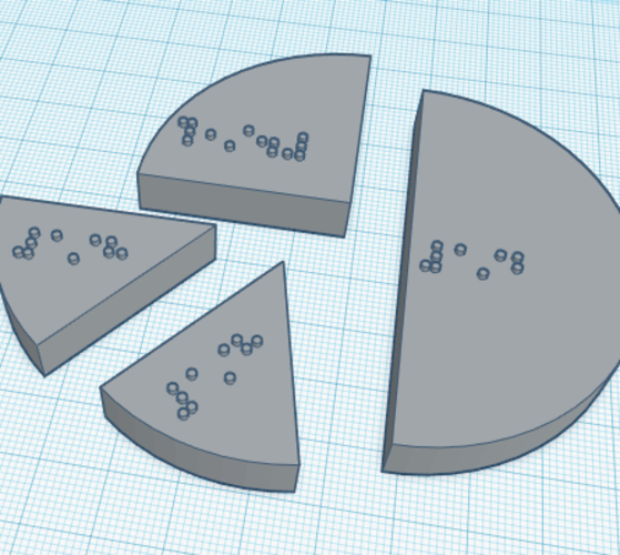 Braille Fraction Tiles (with braille labels) 3D Print 139441