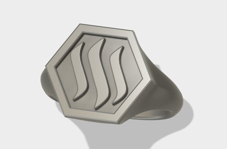 Steemit Ring 3D Print 139449