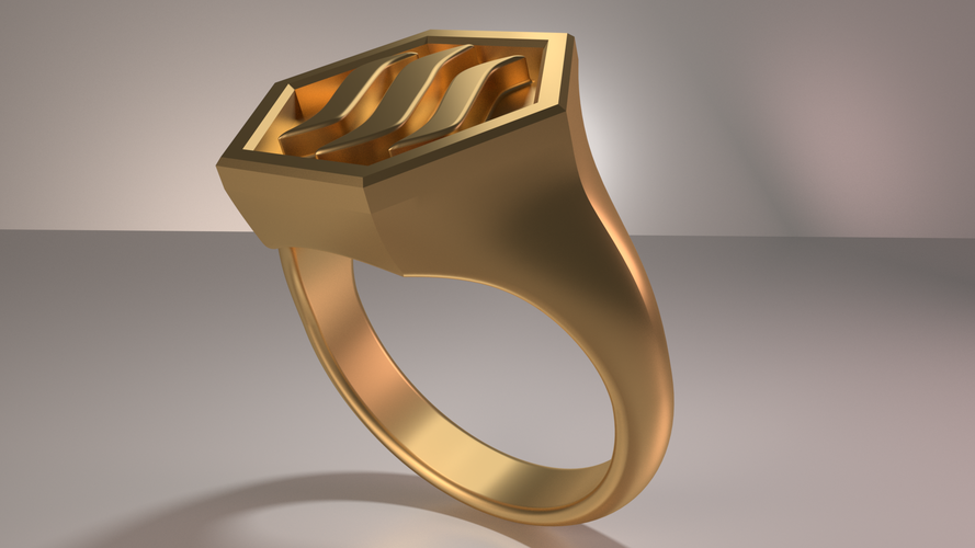 Steemit Ring 3D Print 139450