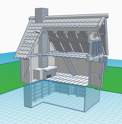 Simple Old House (Small Sized) 3D Print 139452