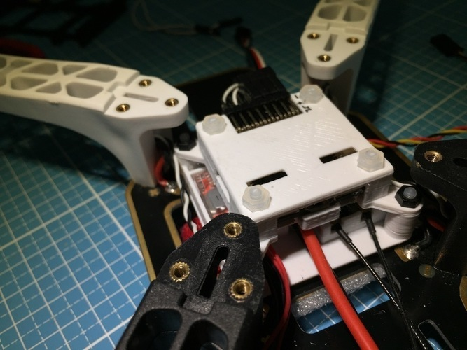 Quadcopter electronics stack mount (fc, power, rx) 3D Print 139474