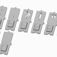 Small Magnetic braille blocks - Punctiation marks 3D Printing 139487