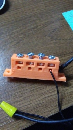 Terminal Block 4 connections 3D Print 139511
