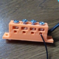 Small Terminal Block 4 connections 3D Printing 139511