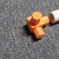 "Small 1/2"" PVC pipe connector, 3 way 3D Printing 139515"