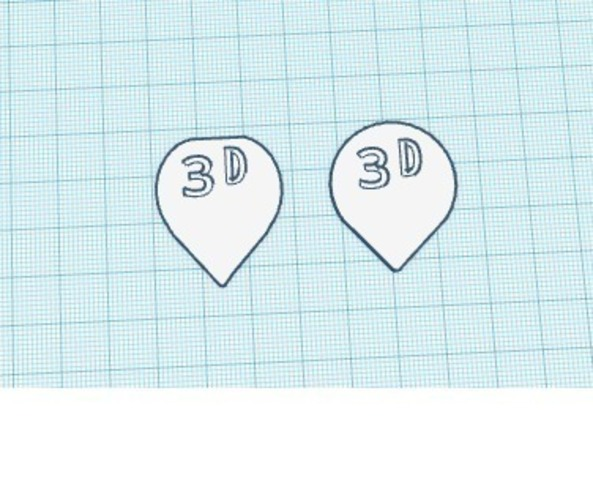 Guitar Picks Medium Flexibility 3D Print 139523