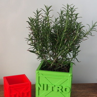 Small CRASH BANDICOOT PLANT POT CRATES 3D Printing 139534