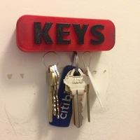 Small Magnetic Key Holder  3D Printing 139628