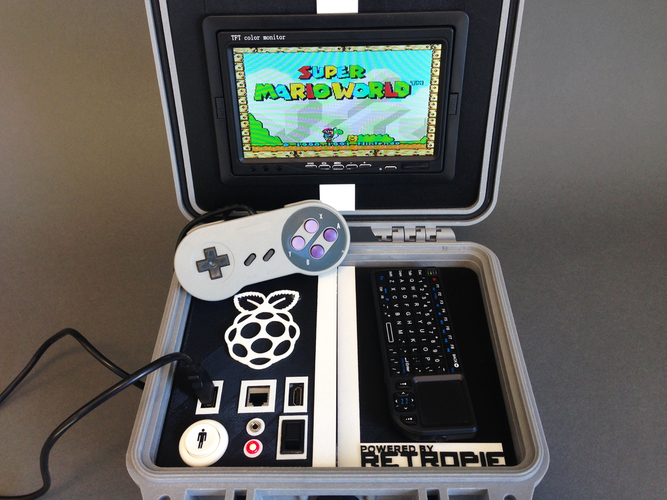 Retro Pie Box - Portable Raspberry Pi Emulation Console ***OUTDA 3D Print 139632