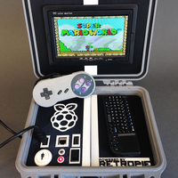 Small Retro Pie Box - Portable Raspberry Pi Emulation Console ***OUTDA 3D Printing 139632