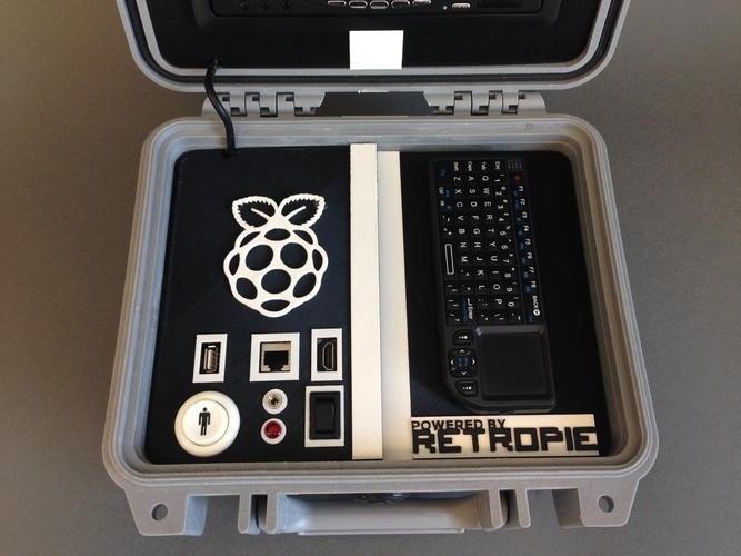 Retro Pie Box - Portable Raspberry Pi Emulation Console ***OUTDA 3D Print 139636