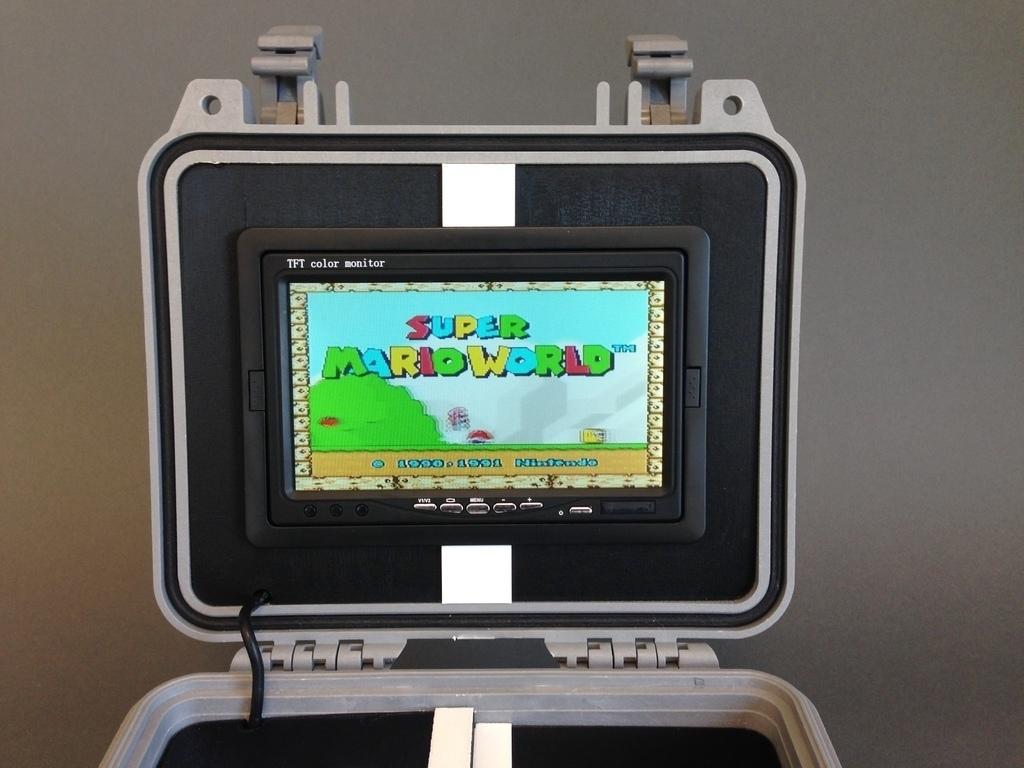 3D Printed Retro Pie Box - Portable Raspberry Pi Emulation