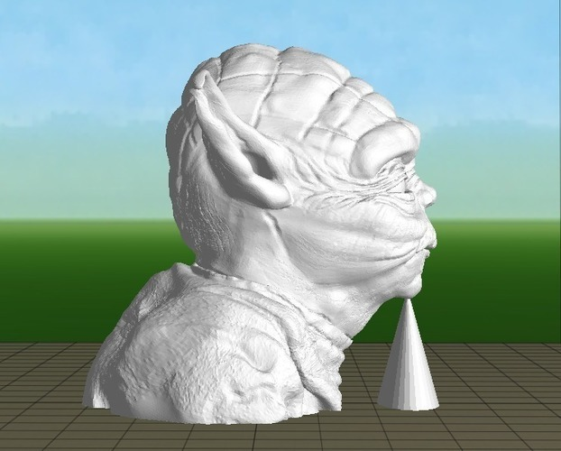 Yoda with Chin Support 3D Print 139650