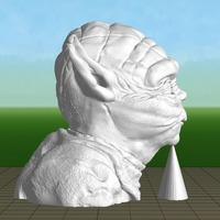 Small Yoda with Chin Support 3D Printing 139650