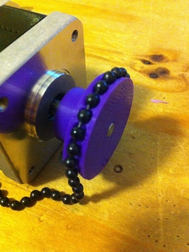 Ball-Chain Pulley for Polargraph 3D Print 139655