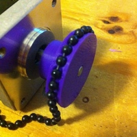 Small Ball-Chain Pulley for Polargraph 3D Printing 139655