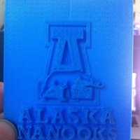 Small University of Alaska Fairbanks - Logo 3D Printing 139656