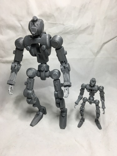 F.R.A.M.E core- robot action figure  3D Print 139679
