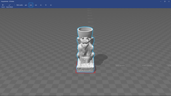 Medium gargoyle candle holder 3D Printing 139683