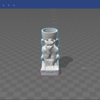Small gargoyle candle holder 3D Printing 139683
