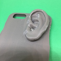 Small iphone 6 plus case with an ear on it 3D Printing 139733