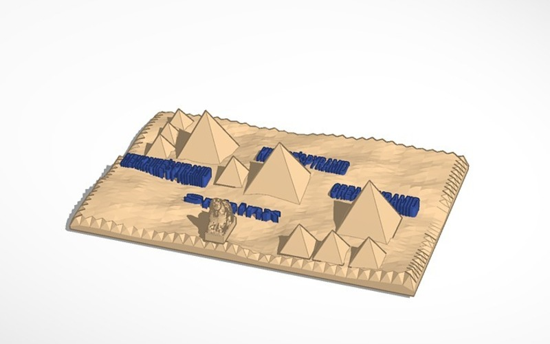 3d map of the pyramids of giza 3D Print 13979