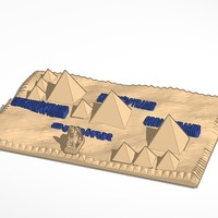 Small 3d map of the pyramids of giza 3D Printing 13979