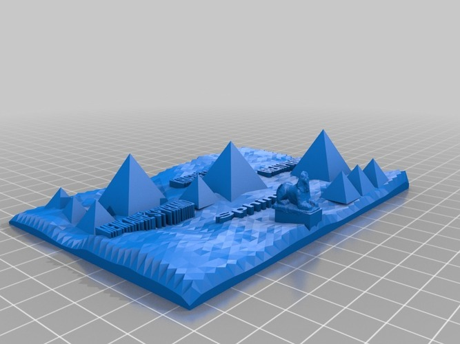 3d map of the pyramids of giza 3D Print 13980