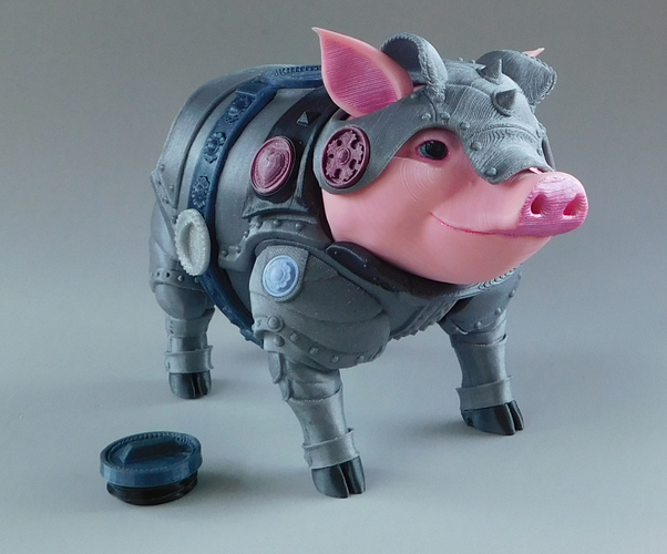 Sir Pigglesby (a most noble piggy bank) 3D Print 139814