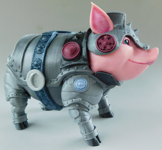 Sir Pigglesby (a most noble piggy bank) 3D Print 139822