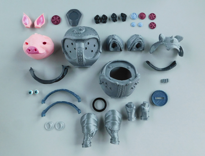 Sir Pigglesby (a most noble piggy bank) 3D Print 139825