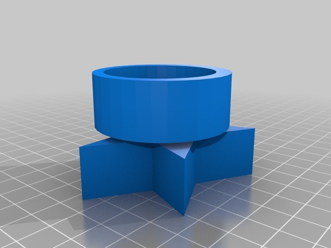 Star tea light candle holder 3D Print 13988