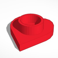 Small heart tea light candle holder 3D Printing 13989