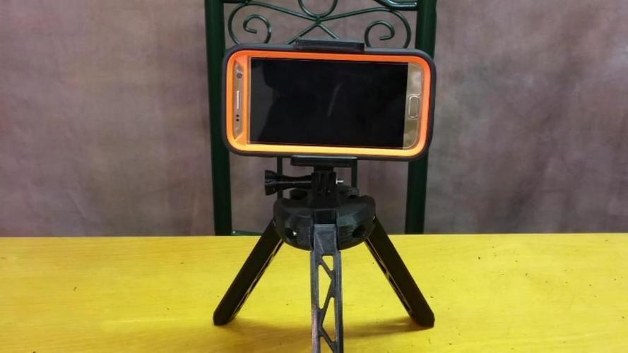 Adjustable Cell Phone GoPro Mount 3D Print 139906