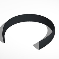 Small larger head band forbetter control of more and thicker hair 3D Printing 13992